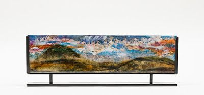 "Fine Art Sculpture Resin, Steel Cast Acrylic ""Aspen Mountain 2"" by Santa Fe Artist Sandra Duran Wilson"