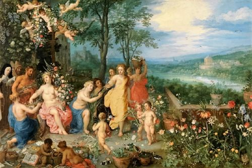 1616 Spring to Summer- Locus amoenus, Allegories by Jan Brueghel the Elder 1568-1625 & Hendrick van Balen 1575-1632