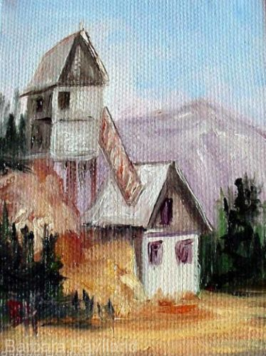 Coal Mine Aceo,canvas,Barbara Haviland, oil painting