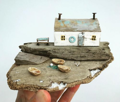 Driftwood Animals and Beach Homes by Kirsty Elson Give New Life to Elements From the Sea