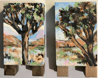 Joshua Trees - acrylic painting by Susan Roden