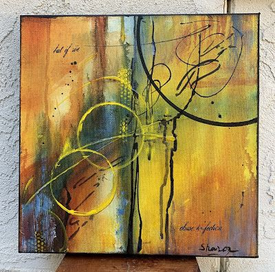 """Expressionism, Contemporary Painting, Mixed Media Art, """"Hope"""" by Texas Contemporary Artist Sharon Whisnand"""