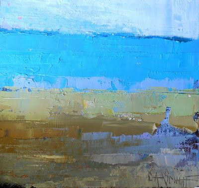 Abstract Oil Landscape Painting, Small Original Artwork, Coastal Home Decor, Daily Painting