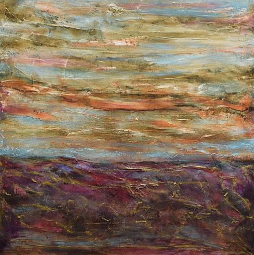"Contemporary Landscape Painting, Abstract Landscape Art ""Other Spaces"" by Santa Fe Contemporary Artist Sandra Duran Wilson"
