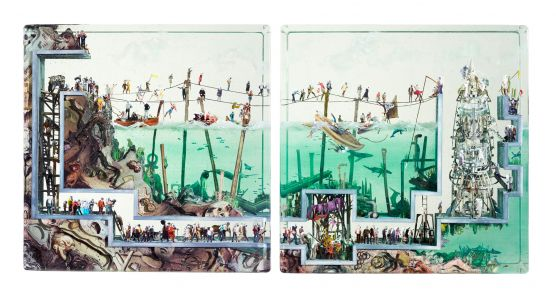 Advanced Technologies Hide Below the Surface in New Three-Dimensional Collages by Dustin Yellin