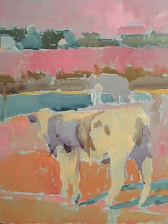 Tim Harms' Cows in Pastel