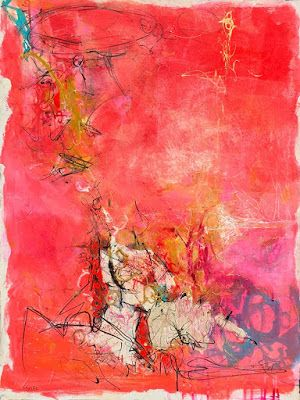"Contemporary Abstract Expressionist Fine Art Painting, ""HEAT"" by Contemporary Expressionist Pamela Fowler Lordi"
