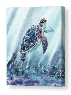 Giant Baby Turtle Watercolor Painting