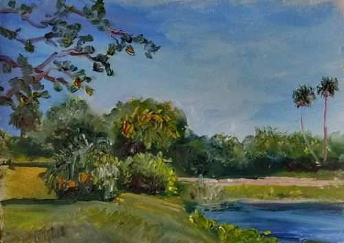 1797 A Lovely Day at Indian Hills Plein Air, alla prima oil painting