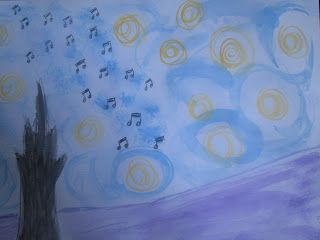 Music Notes From Outer Space - Mixed Media
