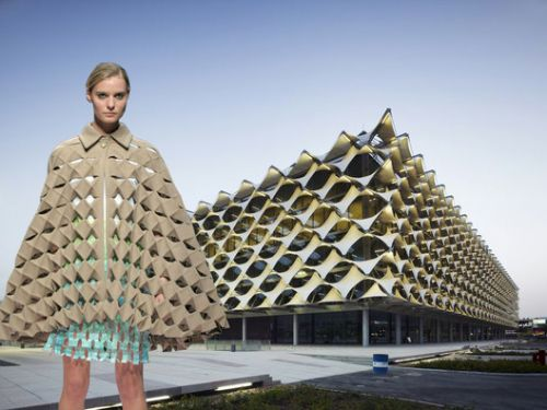 Does Form Follow Fashion? Viktoria Lytra's Montages Keep Iconic Architecture In Vogue