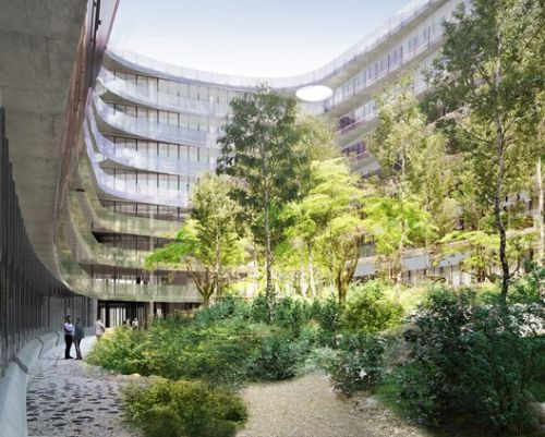 "Herzog & de Meuron Reveal ""Urban Forest"" Office in Munich"