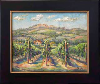 """New """"Ready for Harvest"""" Vineyard Painting by Contemporary Impressionist Niki Gulley"""