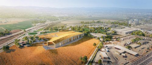 Barilla Visitor Centre Merges with Surrounding Wheat Fields in Pedrignano, Italy