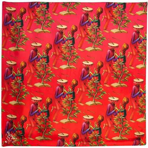 Maximum Fou - Pure Silk Scarves Designed by Artists