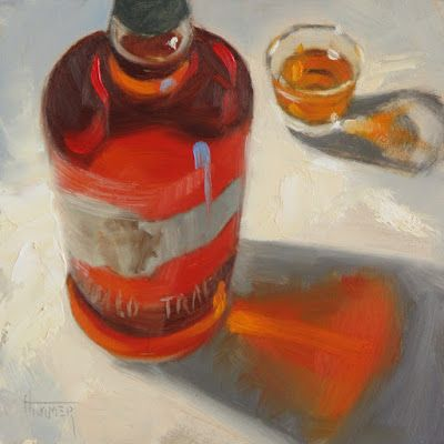 """Buffalo Trace, No.2"" 6in x 6in oil"