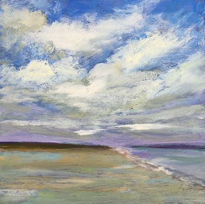 "Contemporary Landscape, ""Beach Days,"" by Amy Whitehouse"