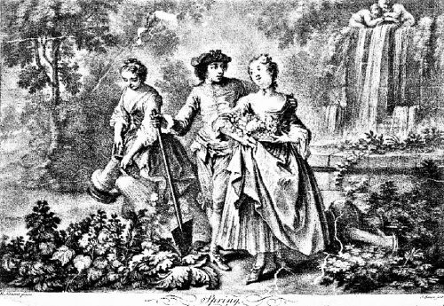 1758 Allegory of Spring in a Garden