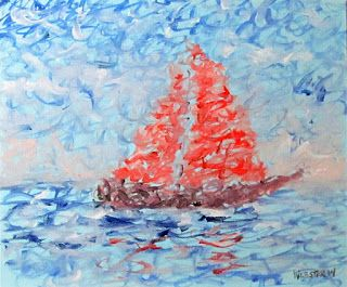 Mark Webster - Impressionist Sailboat Oil Painting