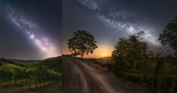 Shooting the Milky Way on Vacation in Tuscany