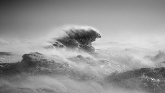 Photographer Sees Mythical Creatures in Stormy Waves