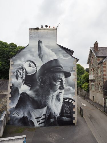 """The Old Man and the Sea 2.0"" by AERO in Morlaix, France"