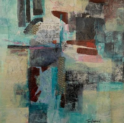 "Mixed Media, Abstract Art, Contemporary Painting, Expressionism, ""Ancient Secrets"" by Contemporary Artist Tracy Lupanow"