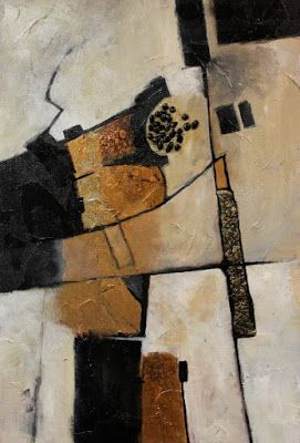 "Mixed Media Contemporary Abstract Art ""Deliberation"" © Carol Nelson Fine Art"