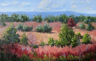 Autumn in Texas, New Contemporary Landscape Painting by Sheri Jones