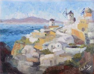 Painting and Photographing in Oia, Greece with Niki Gulley and Scott Williams