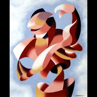 Mark Webster - Plexus 1 - Abstract Figurative Gesture Oil Painting