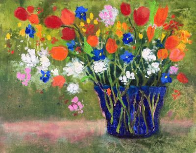 "Contemporary Impressionist Floral, ""Favorite Bouquet,"" Amy Whitehouse"