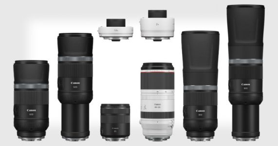 Canon Unveils 4 New Lenses, Including the RF 600mm f/11 and 800mm f/11