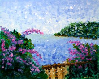 Mark Webster - Impressionist French Riviera Seascape Landscape Painting 51011