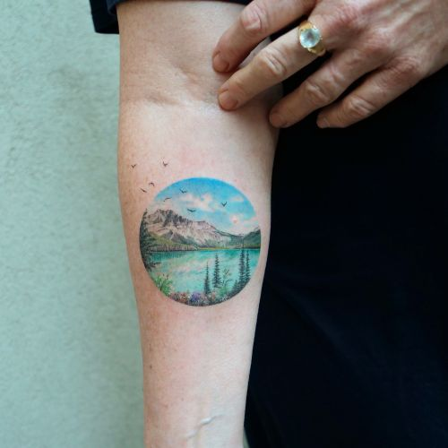 Perfectly Round Tattoos by Eva Encompass Miniature Worlds Inspired by Art History