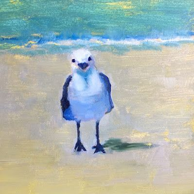 "Florida Sea Birds, ""Little Friend,"" by Amy Whitehouse"