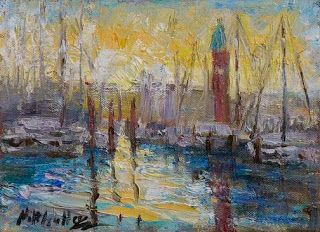 "New ""Venetian Sunset"" Oil Painting by Niki Gulley"