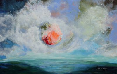 "Contemporary Abstract Seascape Painting ""The Next Great Thing"" by International Contemporary Abstract Artist Arrachme"