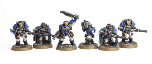 Showcase: Ultramarines Scouts with Sniper Rifles