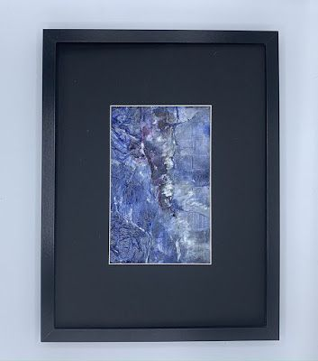 "Blue Art, Abstract Painting, Contemporary Art ""A CRACK IN THE BLUE"" by Florida Artist Mary Ann Ziegler"