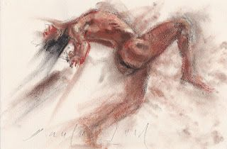 """Ballet dancer"" male nude in motion study"