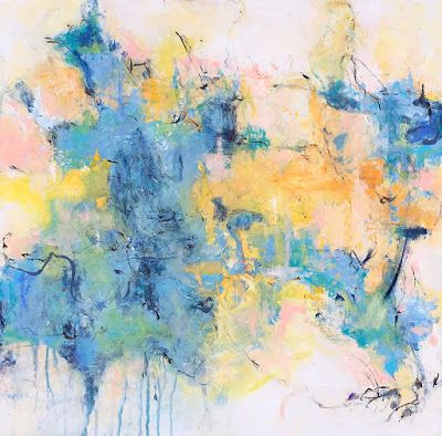 "Contemporary Abstract Expressionist Painting, ""CHUTZPAH"" by Abstract Artist Pamela Fowler Lordi"