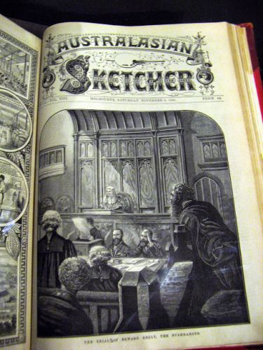 "The Australasian Sketcher periodical reported ""with pen and pencil"" in the late 1800s"