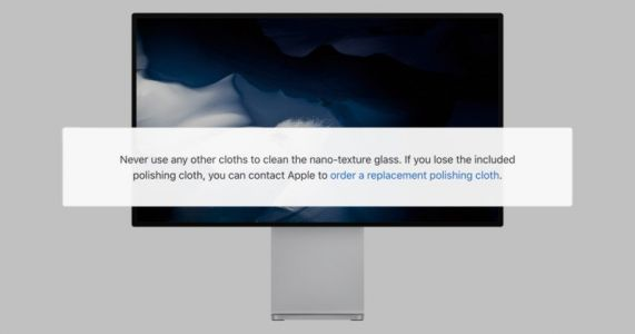 Apple's Nano-Texture Pro Display XDR Can ONLY Be Cleaned with a Special Apple-Provided Cloth