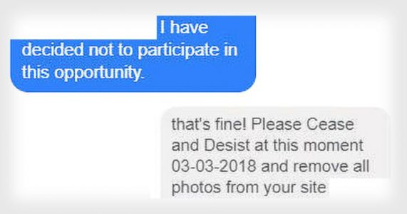 How NOT to Reply When Your Request to Use Photos is Rejected