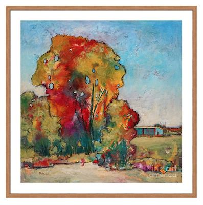 """Colorful Contemporary Landscape Fine Art Print """"Don't Forget"""" By Passionate Purposeful Painter Holly Hunter Berry"""