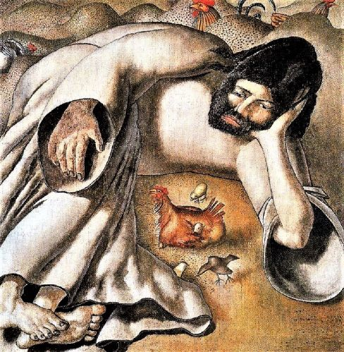 Lent - Stanley Spencer, Christ in the Wilderness The Hen
