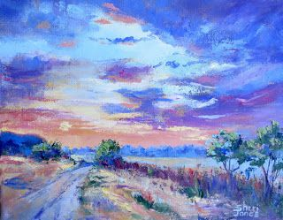 Warmth of a New Day, New Contemporary Landscape Painting by Sheri Jones