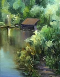 The Old Boat House by artist Pat Meyer