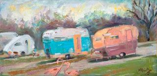 "New ""Happy Campers"" Oil Painting by Contemporary Impressionist Niki Gulley"